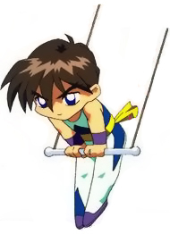 It's Heero Yuy the trapeze artist! (SD)