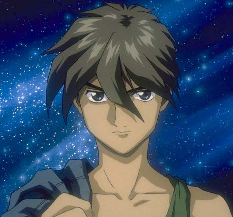 Heero with a starry background