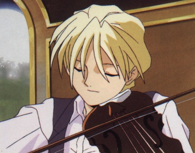 Quatre playing the violin