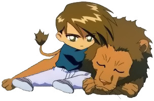 Trowa and a lion(SD)